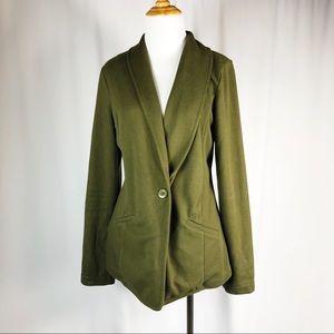 CASLON Olive Green Sweater Blazer